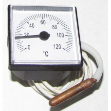 Квадратний термометр 45*45мм 0/120 гр.С 1000мм