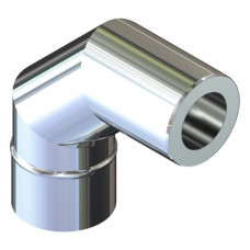 Відвід 90° двостінний для димоходу 250/320 н/оц 0,8 мм