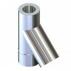Трійник 45° двостінний для димоходу 220/280 н/оц 0,8 мм