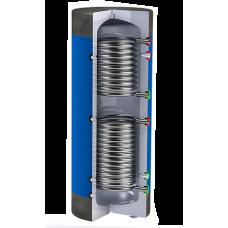 Буферна ємність Werden з верхнім і нижнім теплообмінником (нержавіюча сталь)