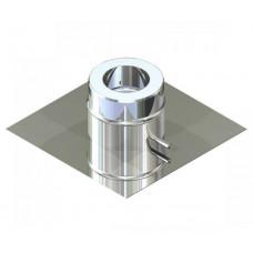Підставка підлогова двостінна для димоходу 150/220 нерж 0,6 мм
