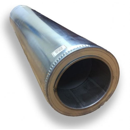 Труба двостінна для димоходу 1 м 250/320 н/оц 0,8 мм